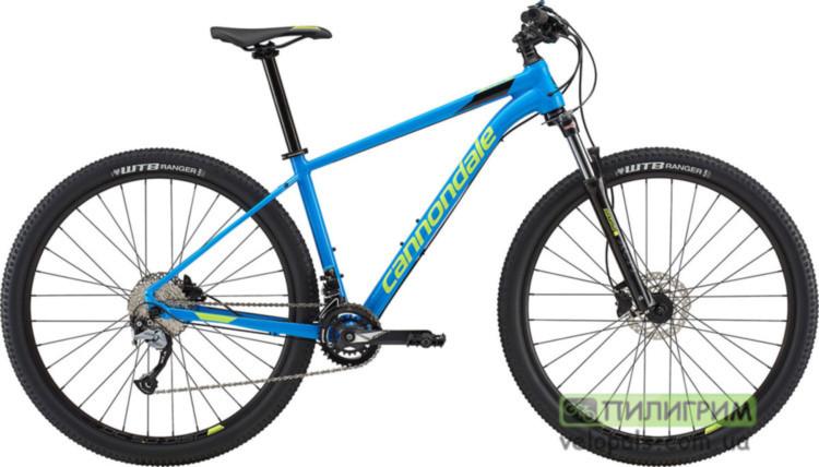 "Велосипед 29"" Cannondale Trail 6 SPB синий с салатовым 2018 M (рост 170-180 см.)"