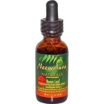 Neemaura Naturals Inc, Концентрированный экстракт листьев нима, 1 жидкая унция (30 мл)
