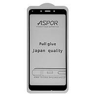 Защитное стекло 5D Full Glue ASPOR для Xiaomi Redmi 6A Black (Screen Protector 0,3 мм)
