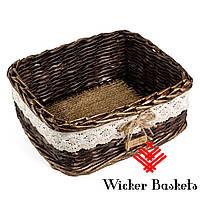 Корзинка плетеная ручной работы