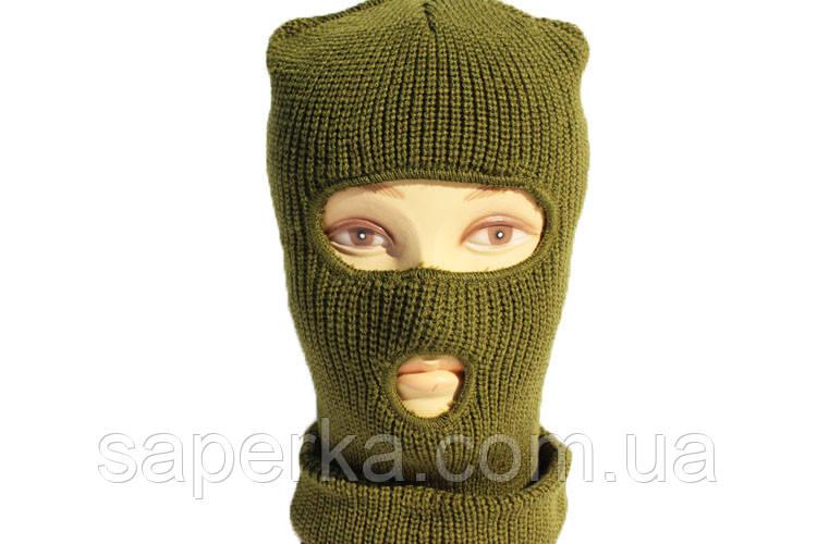 Шапка-маска, балаклава зимняя REIS (двойная вязка)