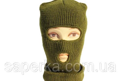 Шапка-маска, балаклава зимняя REIS (двойная вязка), фото 2