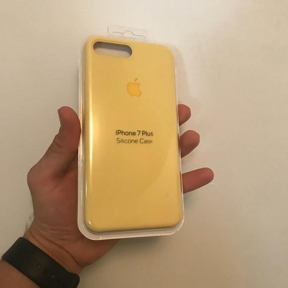 Чехол для Apple Silicone Case (04) iPhone 7/8 Plus Yellow