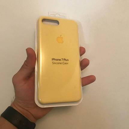 Чехол для Apple Silicone Case (04) iPhone 7/8 Plus Yellow, фото 2