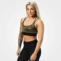 Спортивный топ Astoria sports bra, Dark green camo