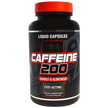 Nutrex Research, Кофеин 200, энергия и внимательность, 60 капсул с жидким наполнением