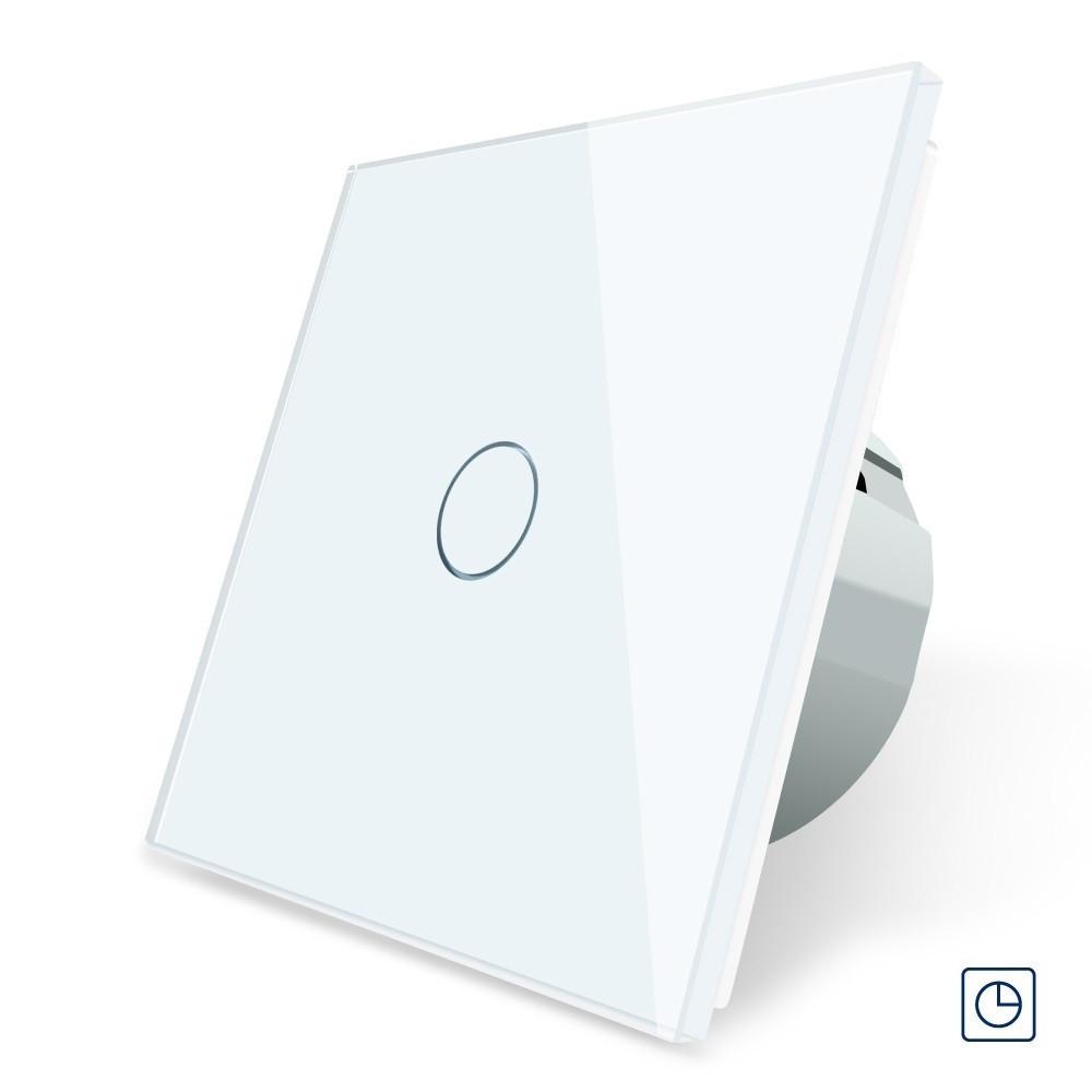 Сенсорный выключатель с таймером, выключатель с реле времени Livolo, цвет белый (VL-C701T-11)