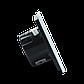 Сенсорный проходной выключатель Livolo на 2 канала, цвет черный, стекло (VL-C702S-12), фото 4
