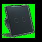 Сенсорный проходной маршевый перекрестный выключатель Livolo на 2 канала черный стекло (VL-C702S-12), фото 6