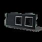 Сенсорный выключатель на 2 линии с 2 розетками Livolo, цвет черны, хром, стекло (VL-C702/C7C2EU-12C), фото 2