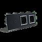 Сенсорный выключатель на 2 линии с 2 розетками Livolo, цвет черны, хром, стекло (VL-C702/C7C2EU-12C), фото 3