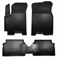 Коврики салона (резиновые, черные) avto-gumm Chevrolet aveo T200 (шевроле авео т200) 2002-2008