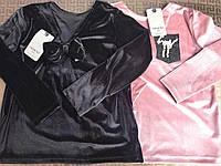 Кофта на девочку, велюр, размер 8-14 лет, разные цвета, фото 1