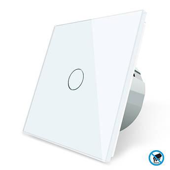Бесконтактный выключатель Livolo белый стекло (VL-C701PRO-11)