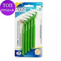 Интердентальные ( межзубные ) ёршики 10шт. Interdental Brushes ASUS 0.6-1.5mm 0,8мм