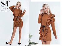 Платье мини рюш 46-48, фото 1