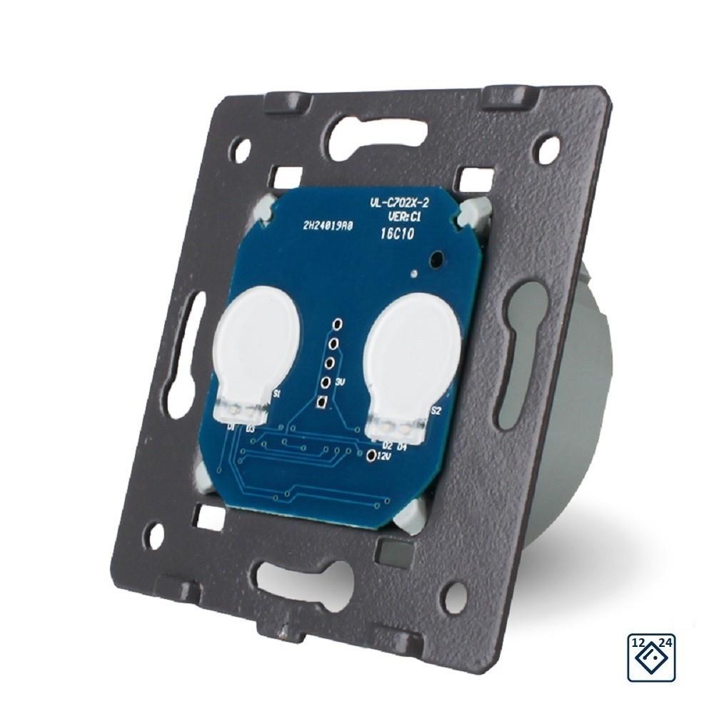 Модуль сенсорного выключателя Livolo 12/24В на 2 канала для Умного дома (VL-C702C)