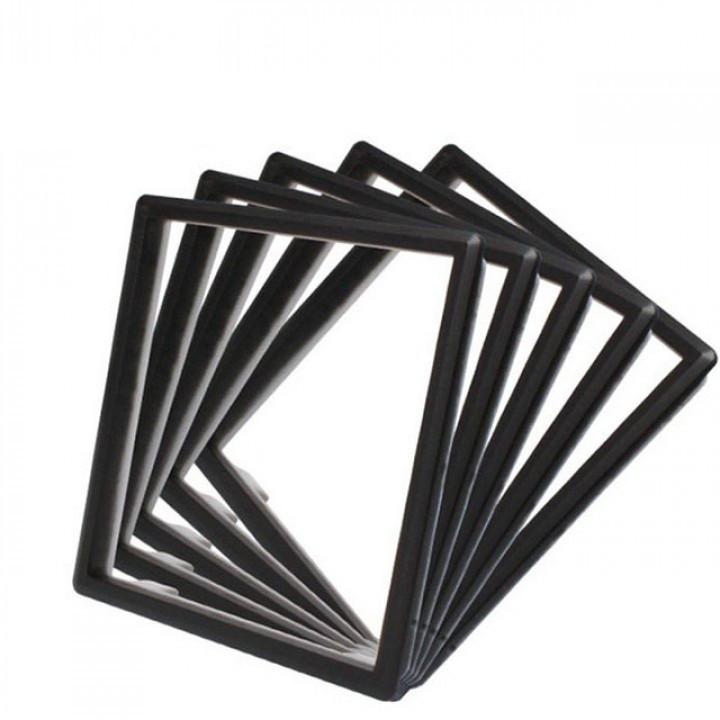 Набор декоративных вставок в рамку Livolo цвет черный (DF10-12)