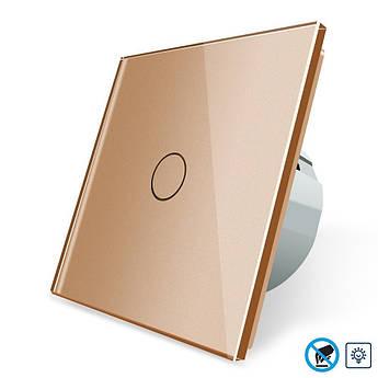 Бесконтактный диммер Livolo золото стекло (VL-C701D-PRO-13)