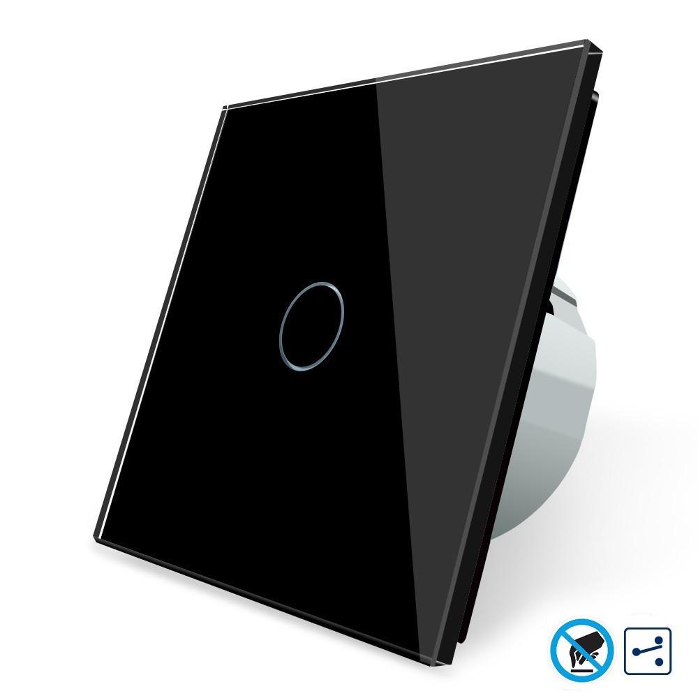 Бесконтактный проходной выключатель Livolo | цвет черный, материал стекло (VL-C701SPRO-12)