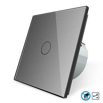 Бесконтактный проходной выключатель Livolo серый стекло (VL-C701SPRO-15)