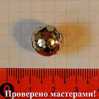 Металлические бусины, полые, ажурные, темно серебристого (стального) цвета 14 мм