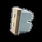 Модуль силовой розетки Livolo пол поста, цвет золотой (VL-C7-C1A-13), фото 2