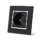 Розетка с заземлением Livolo черный хром стекло (VL-C7C1EU-12C), фото 2