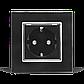 Розетка с заземлением Livolo черный хром стекло (VL-C7C1EU-12C), фото 3