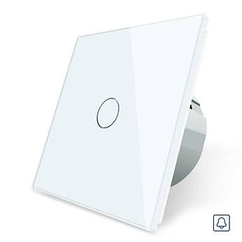Сенсорная кнопка Livolo импульсный выключатель белый стекло (VL-C701H-11)