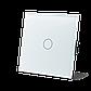 Сенсорный проходной выключатель Livolo с дистанционным управлением, цвет белый, стекло (VL-C701SR-11), фото 2