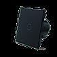 Сенсорный проходной выключатель Livolo с дистанционным управлением, цвет черный, стекло (VL-C701SR-12), фото 2