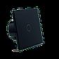 Сенсорный проходной выключатель Livolo с дистанционным управлением, цвет черный, стекло (VL-C701SR-12), фото 6