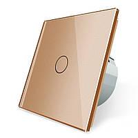Сенсорный выключатель Livolo, цвет золото, стекло (VL-C701-13)