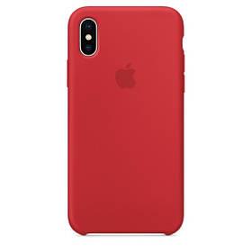 Чехол для Apple Silicone Case (14) iPhone X Red