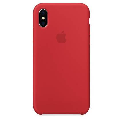 Чехол для Apple Silicone Case (14) iPhone X Red, фото 2