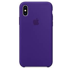 Чехол для Apple Silicone Case (34) iPhone X Ultra Violet