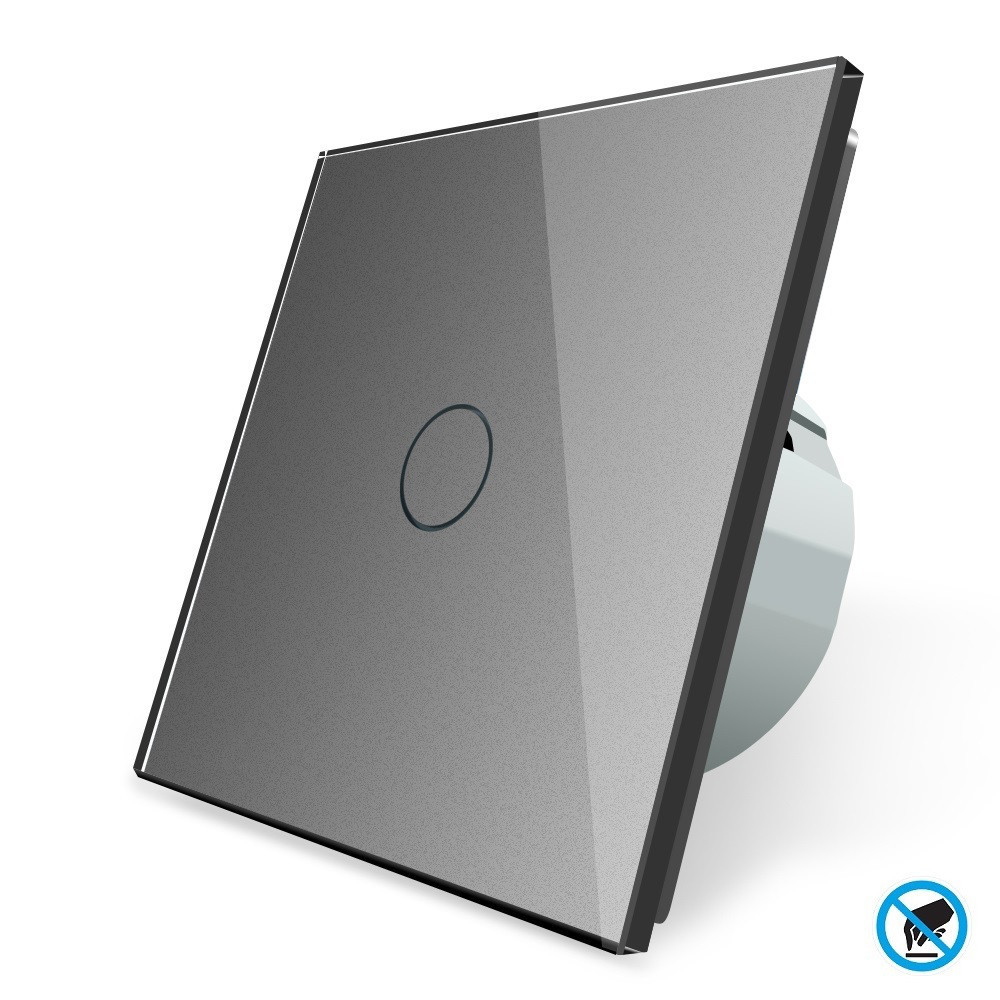 Бесконтактный выключатель Livolo | цвет серый, материал стекло (VL-C701PRO-15)