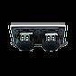 Сенсорный проходной выключатель Livolo на 4 канала 2+2, цвет серый, стекло (VL-C702S/C702S-15), фото 3