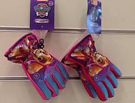 Перчатки болоневые для девочек оптом, DISNEY,  № 800-567
