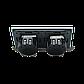 Четырехсенсорный выключатель Livolo 2+2 с функцией ДУ, серый, стекло (VL-C702R/C702R-15), фото 3