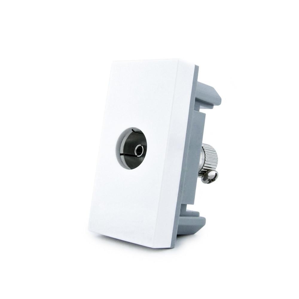 Розетка телевизионная Livolo, TV розетка, цвет белый (VL-C7-1V-11)