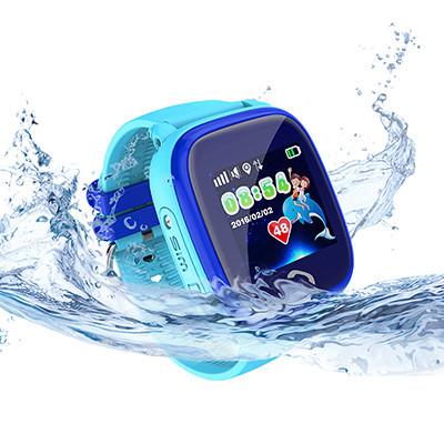 Детские водонепроницаемые часы DF25 (Q100aqua) голубые