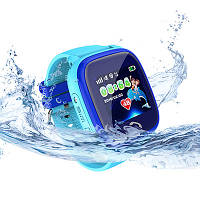 Детские водонепроницаемые часы DF25 (Q100aqua) голубые, фото 1