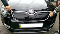 """Зимняя накладка Skoda Rapid 2012- на решетку радиатора матовая """"FLY"""", фото 1"""