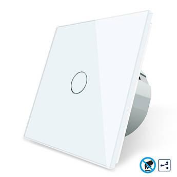 Бесконтактный проходной выключатель Livolo белый стекло (VL-C701SPRO-11)