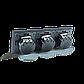 Сенсорный проходной выключатель Livolo на 6 каналов 2+2+2, цвет серый, стекло (VL-C706S-15), фото 4