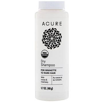 Acure, Сухой шампунь, для темных волос, 1,7 унц. (48 г)