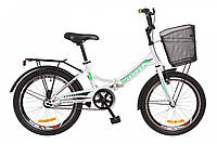 """Велосипед Formula SMART 20"""" с корзиной Бело-зеленый"""