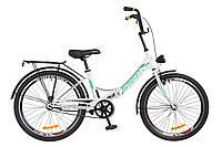 """Велосипед Formula SMART 24"""" с фонарём  Бело-зеленый"""